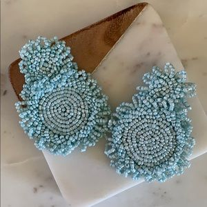 BOGO! Baby Blue Beaded Statement Earrings